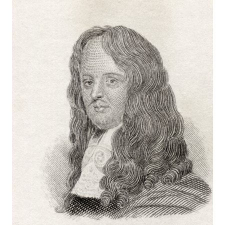 William Brouncker 2Nd Viscount Brouncker 1620 To 1684 English Mathematician From Crabbs Historical Dictionary Published 1825 Canvas Art - Ken Welsh  Design Pics (26 x (1684 Art)