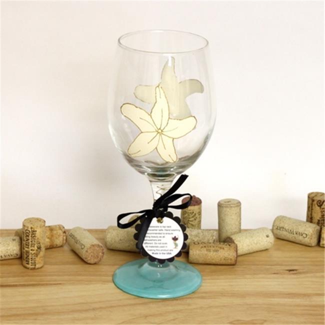 Judi Painted it BE-STAR Starfish Wine Glass
