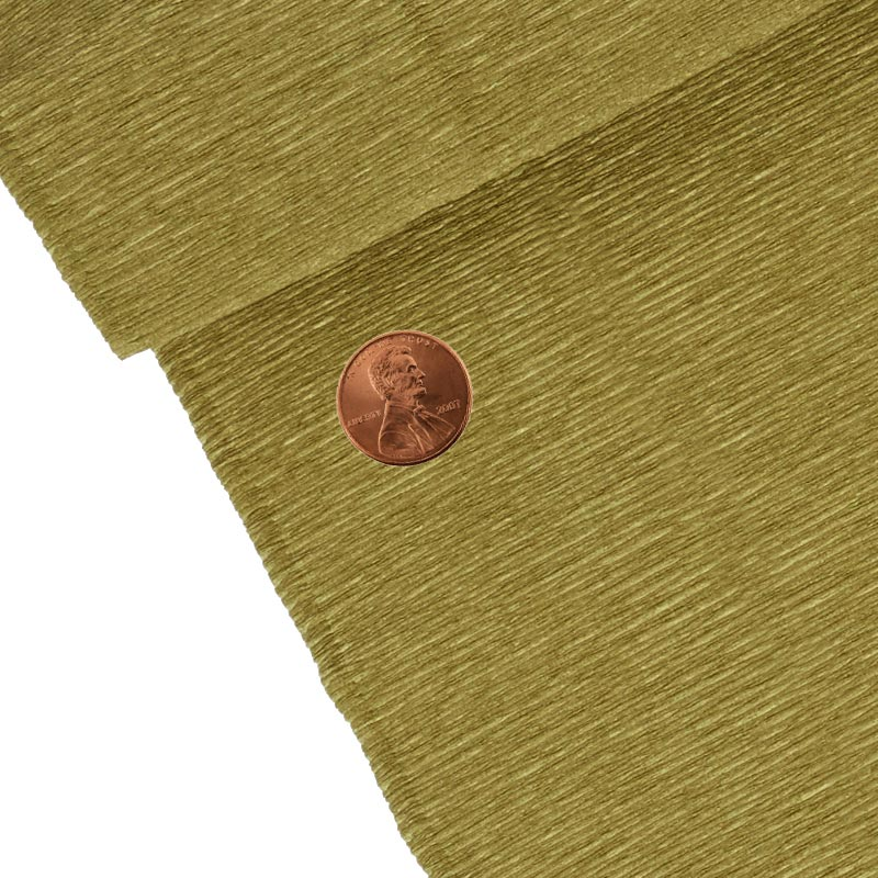 """Gold Crepe Paper 19"""" X 3yd by Paper Mart"""