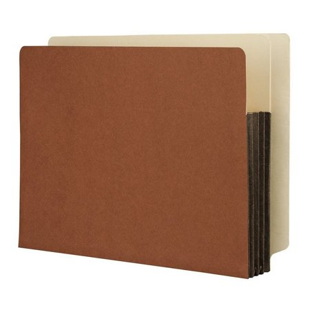 Side Tab Lateral Files - Heavy Duty Side Tab File Pockets, Expanding Letter Size Red Rope 3-1/2