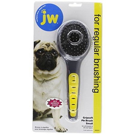 JW Pet Gripsoft Pin Brush Small -- 1 Brush