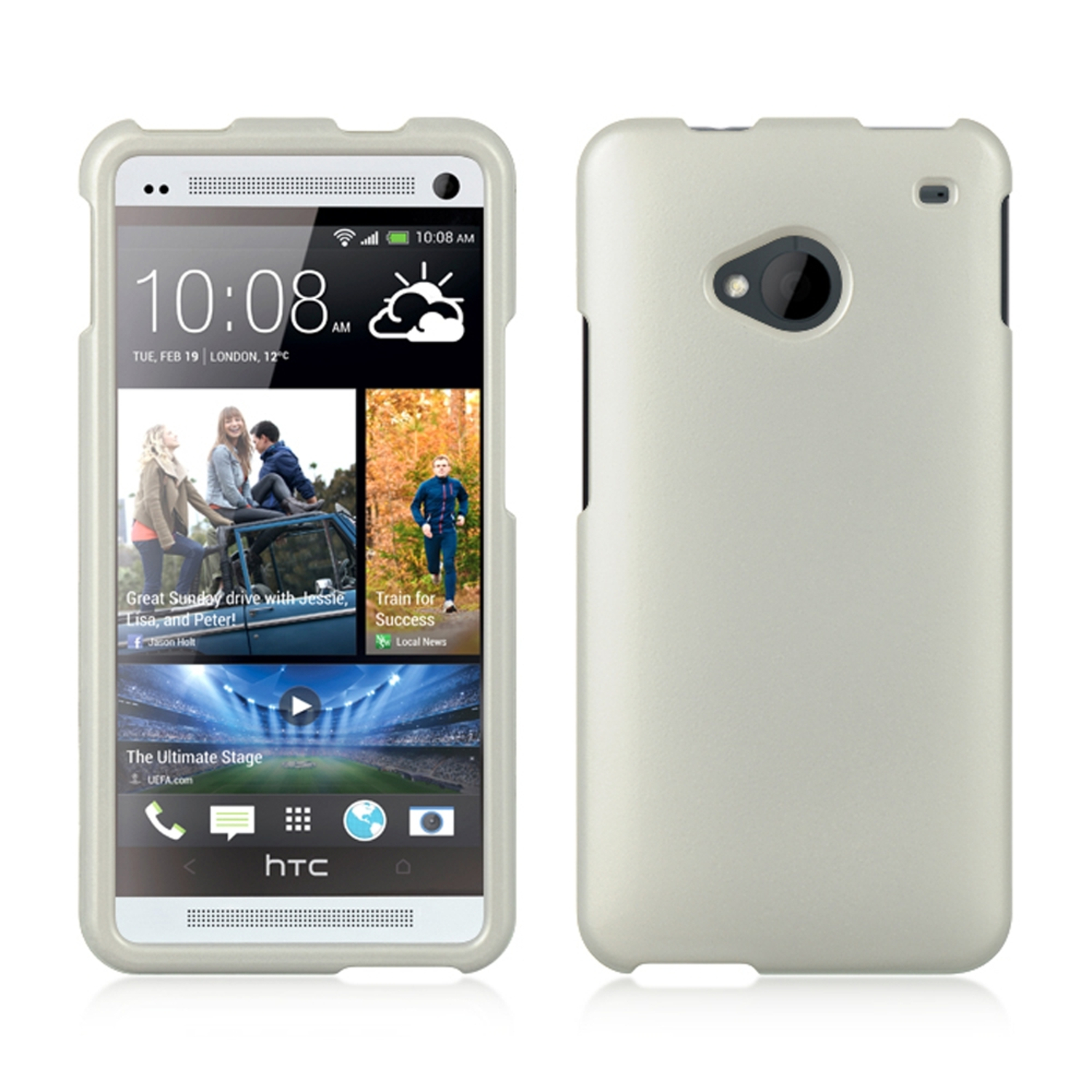 Insten Hard Case For HTC One M7 - White
