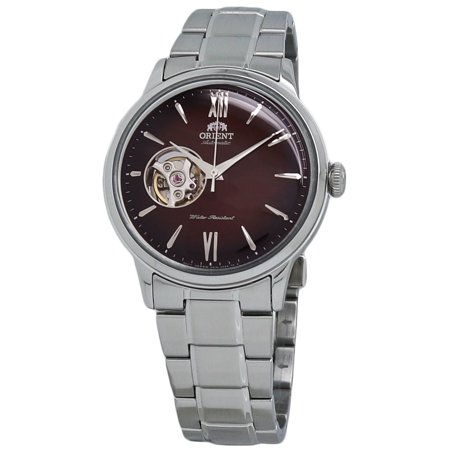 - Orient Bambino Open Heart Red Dial Men's Automatic Watch RA-AG0027Y