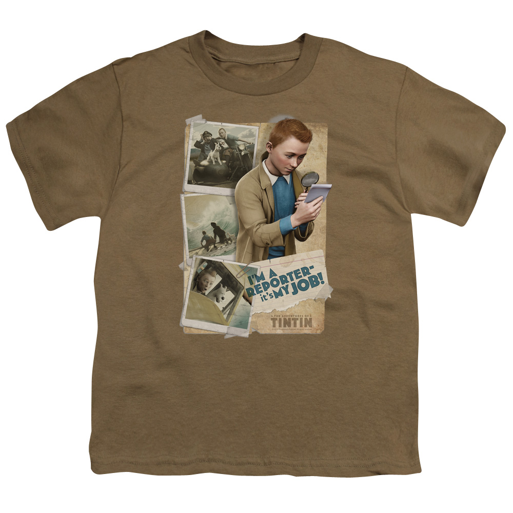 Tintin I'M A Reporter Big Boys Youth Shirt
