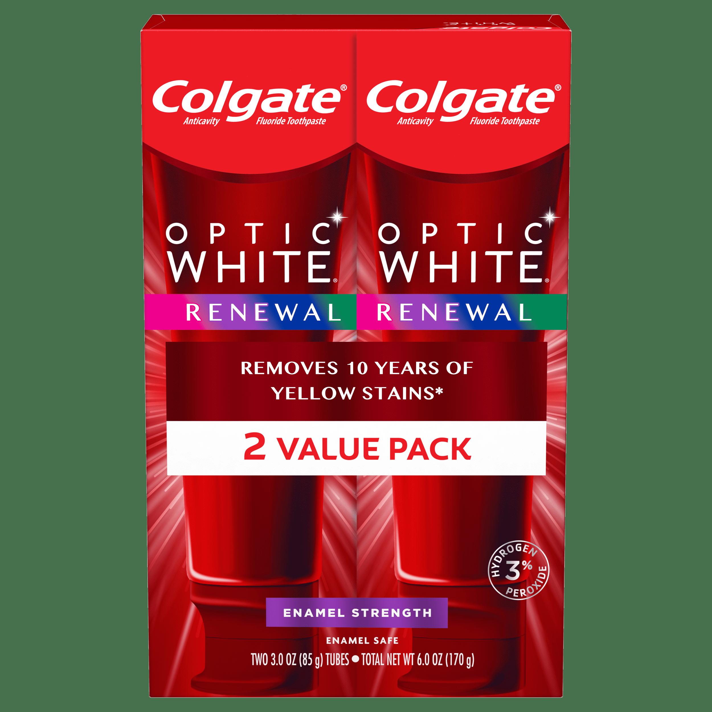 Colgate Optic White Renewal Teeth Whitening Toothpaste Enamel