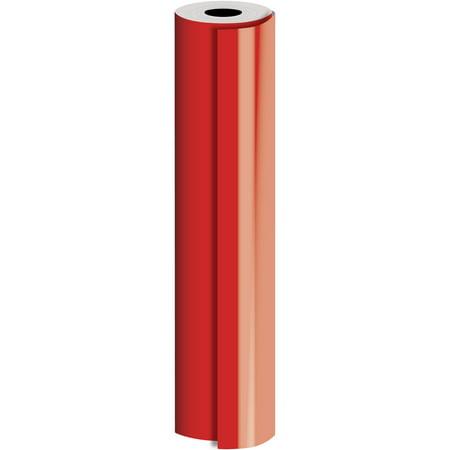 Jillson & Roberts Bulk Gift Wrap, Matte Solid Red, 1/2 Ream 417' x 24