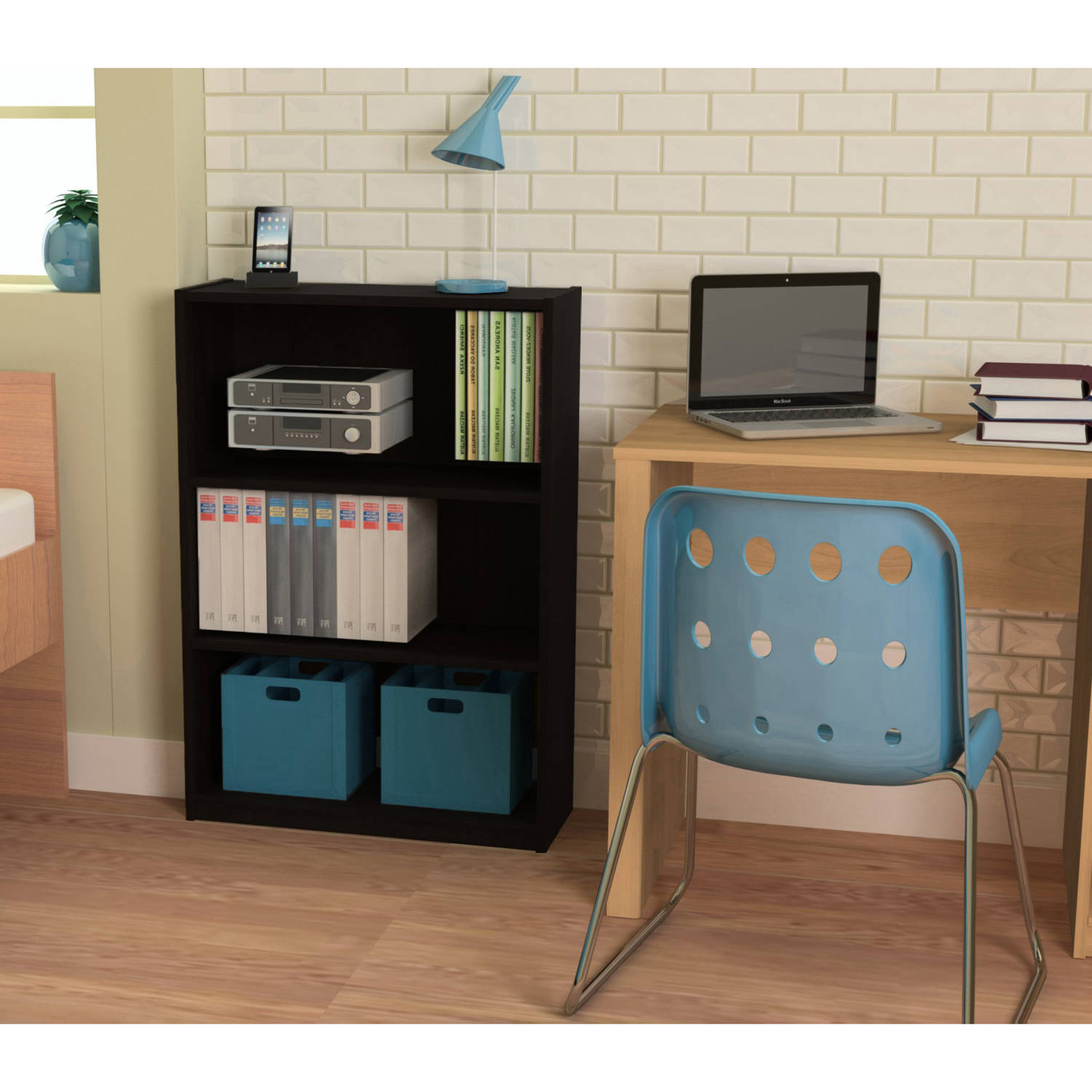 Mainstays Corner Desk Amp 3 Shelf Bookcase Value Bundle Mix