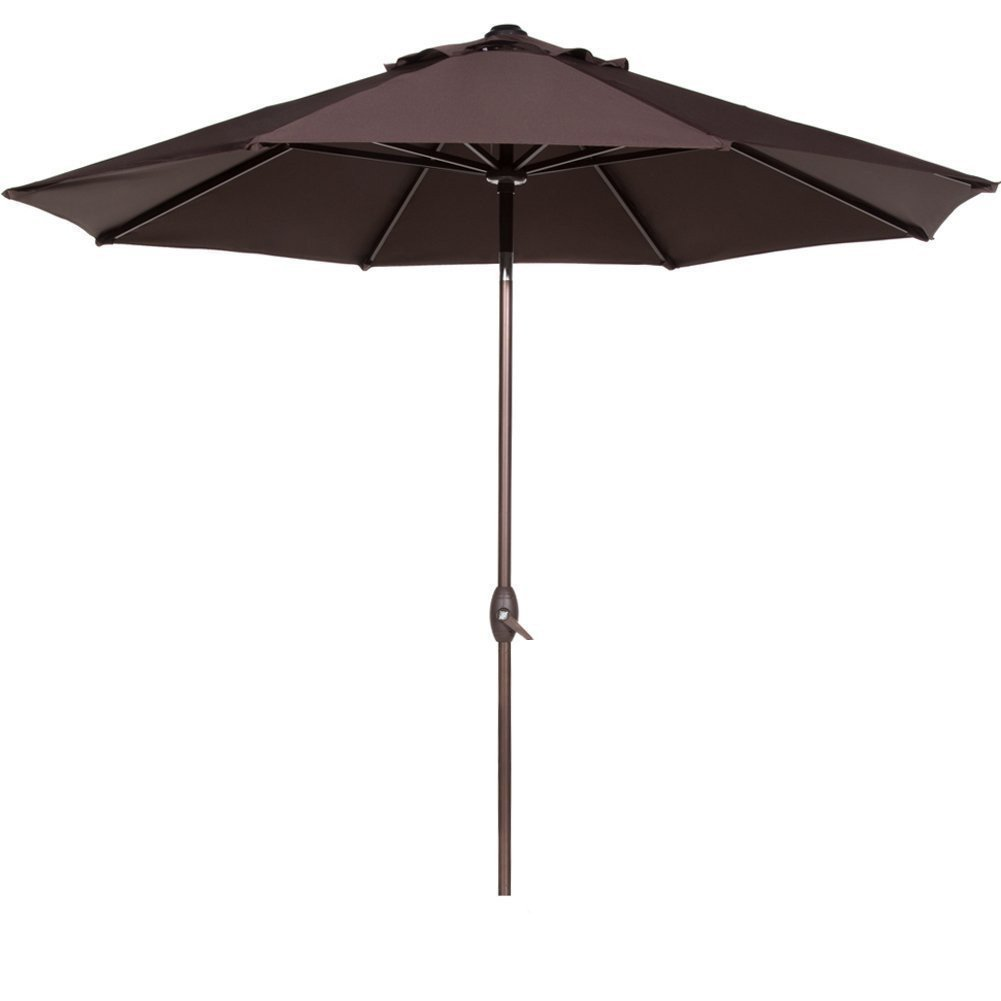 Abba Patio 9-Ft Aluminum Patio Umbrella with Auto Tilt and Crank, 8 Ribs, Beige by Patio Umbrellas