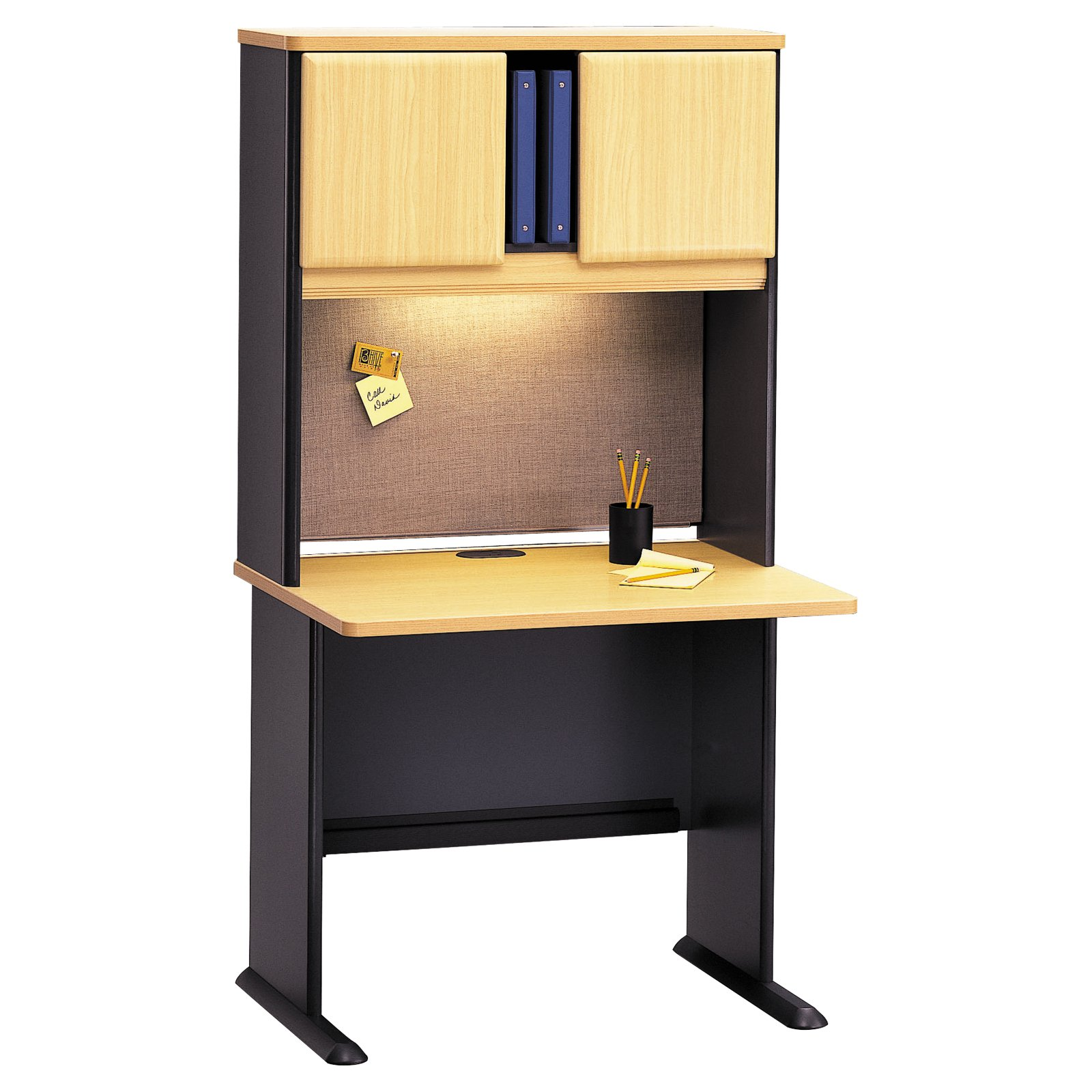 Bush Series A 36 Inch Desk and Hutch