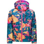 Spyder Girls Lola Jacket  Kids Full Zip Outdoor Hooded Winter Coat