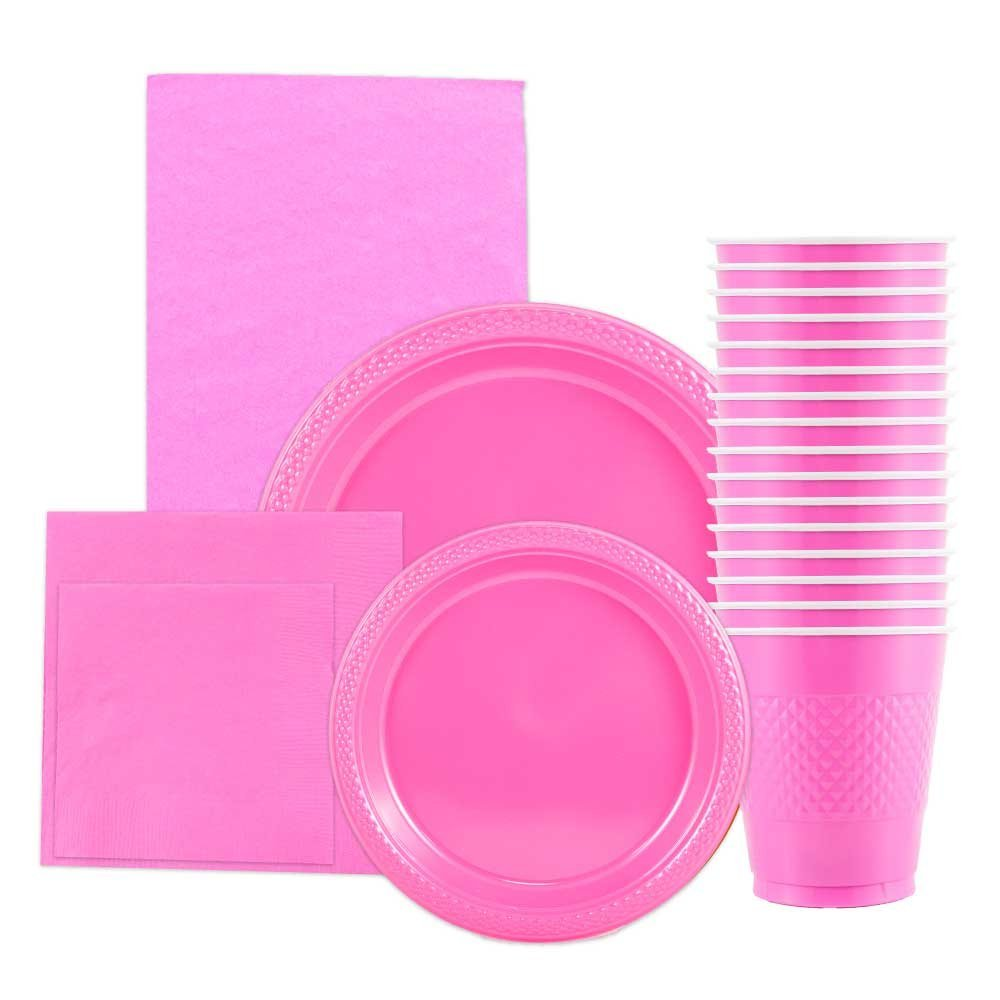 JAM Paper Party Supply Assortment Pack Fuchsia Pink Plates (2 Sizes)  sc 1 st  Walmart & JAM Paper Party Supply Assortment Pack Fuchsia Pink Plates (2 ...