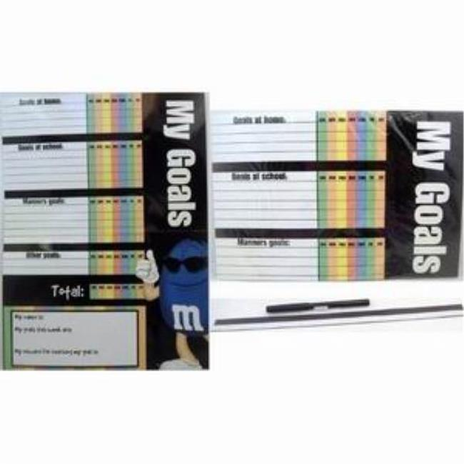 Bulk Buys Kids M&M Dry Erase Goal Chart with Marker - Case of 72
