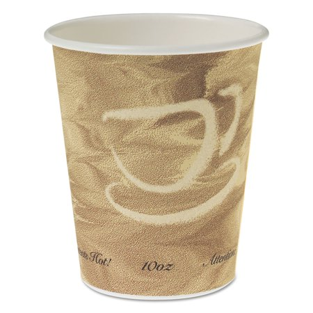 Single Sided Poly Paper Hot Cups, 10 OZ, Mistique design, 50/Bag, 20 (Single Sided Poly Paper)