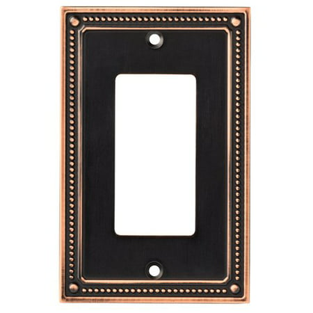 Franklin Brass Classic Beaded Single Decorator Wall Plate in Bronze with Copper Highlights