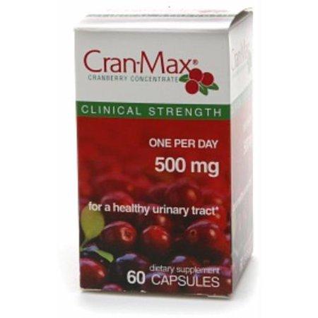 Cran-Max Cranberry Concentré complément alimentaire 500 mg Capsules 60 capsules (paquet de 4)