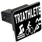 "Triathlete Triathlon Swim Bike Run 1.25"" Tow Trailer Hitch Cover Plug Insert"