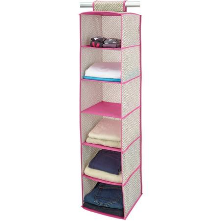 Closetcandie hot pink 6 shelf organizer for Furniture 7 days to die