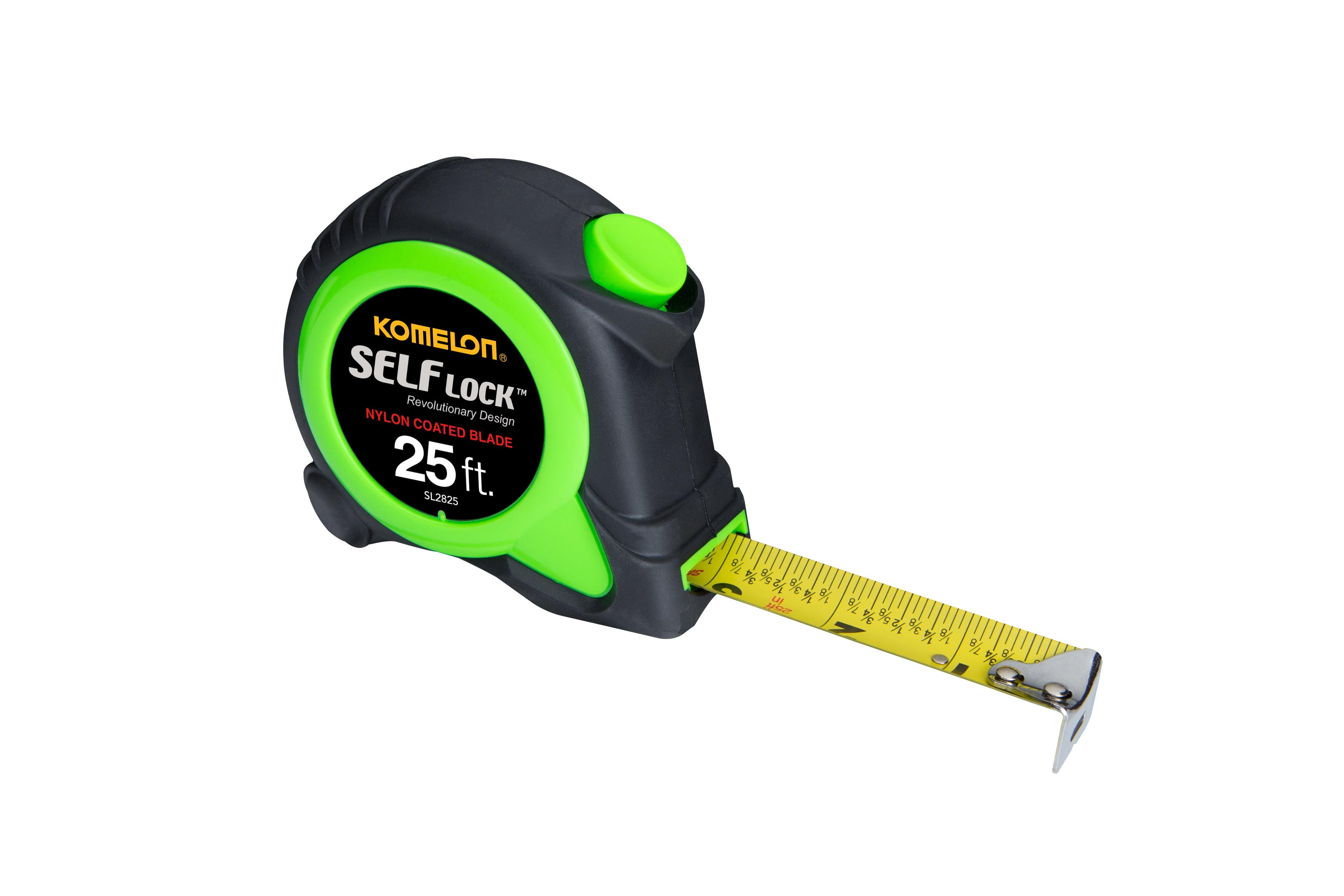 Komelon Self Lock Premium 25 ft Green Nylon Coated Blade Tape Measure by Komelon