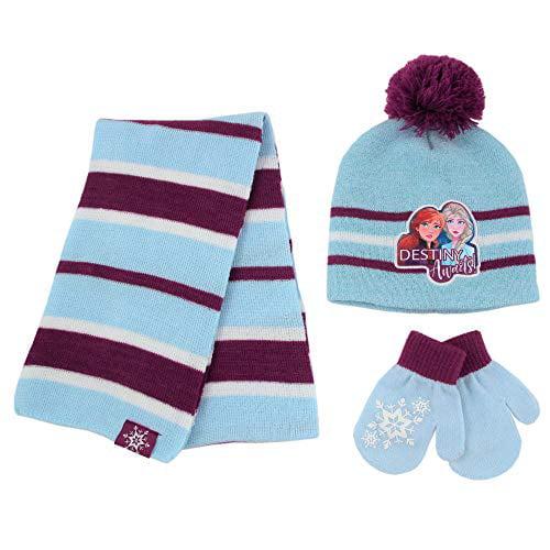 Disney FROZEN 2 ELSA  Knit Beanie Winter Girls Hat /& Gloves Set