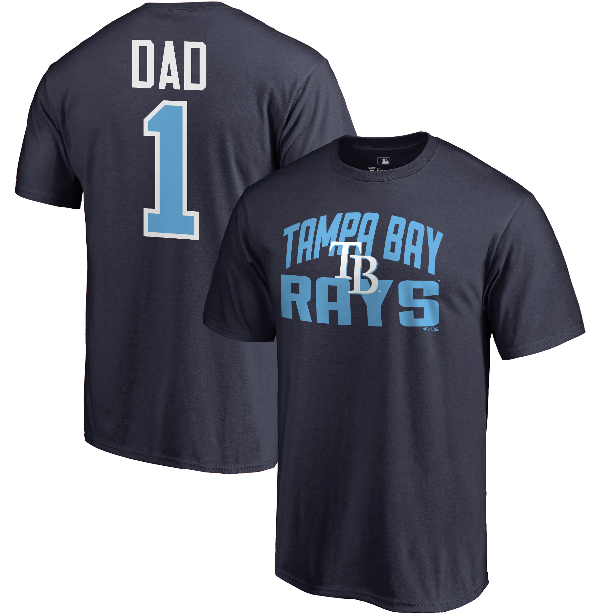Tampa Bay Rays Fanatics Branded 2018 Father's Day Number 1 Dad T-Shirt - Navy