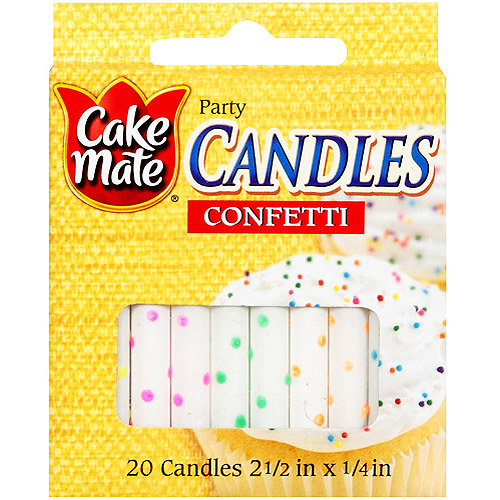 Signature Brands Cake Mate  Candles, 20 ea