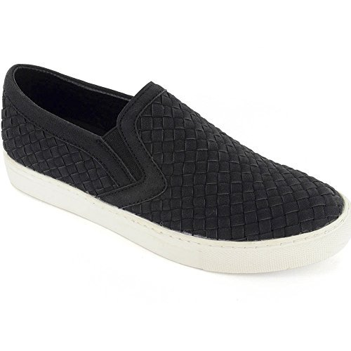 Not branded - Corkys Womens Powder Faux Leather Weave Casual Shoes (Black edb8259445