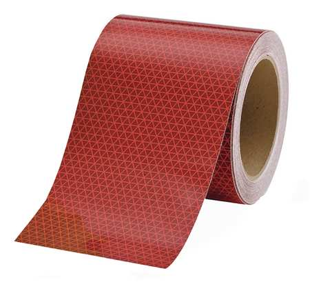 REFLEXITE 18715 Reflective Tape, W 6 In, Red