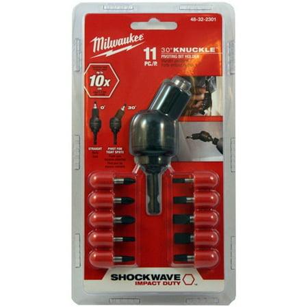 - Milwaukee 48-32-2301 11-Piece Shockwave Knuckle Pivot Adapter Set