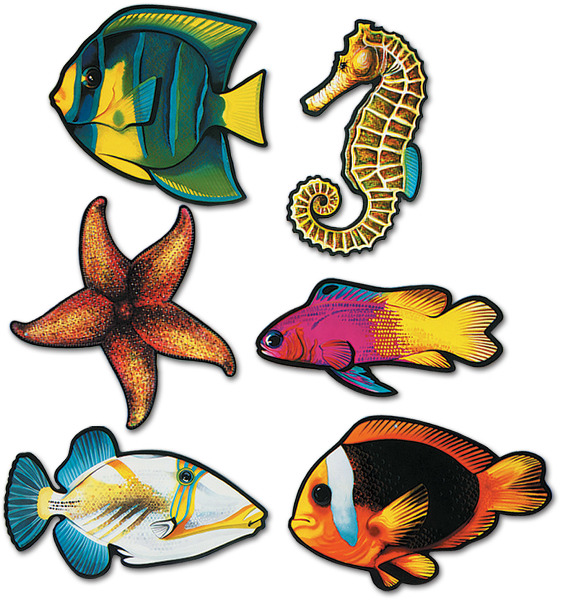 Ddi Packaged Fish Cutouts (pack Of 48)