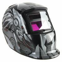 Transformers Solar Powered Welding Helmet Auto Darkening Hood with Adjustable Shade Range 4/9-13 for MIG TIG ARC Professional Welder Mask