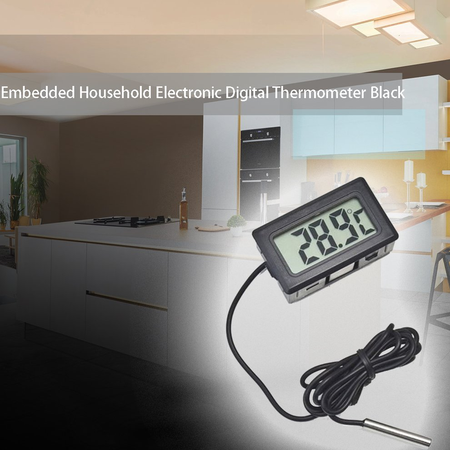 Logicstring Das eingebettete elektronische Digitalanzeigethermometer fy-10 digitales K/ühlschrankthermometer