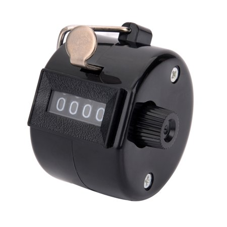 (4 Digit Number Manual Handheld Tally Mechanical Clicker Golf Stroke Hand Counter)