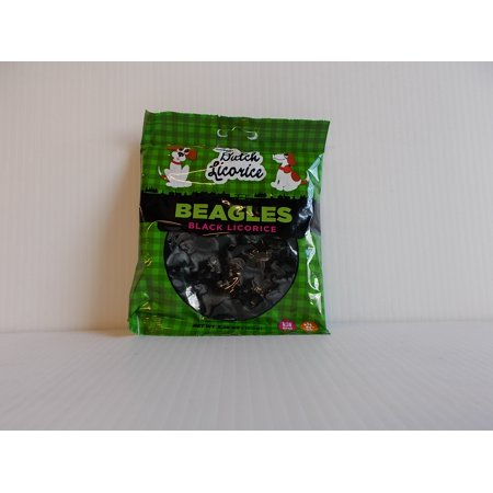 - Gustaf's Black Licorice Beagles 5.29oz Bag