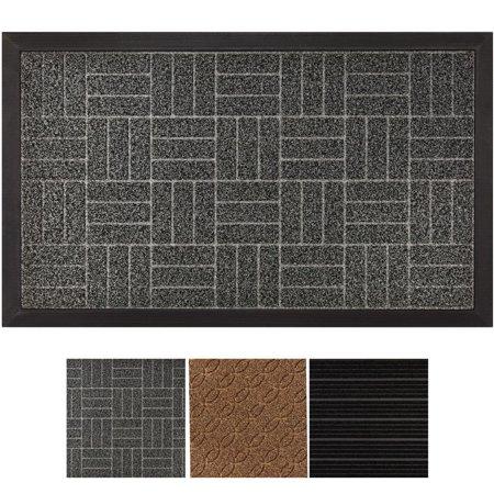 Halloween Doormat Outdoor Decor (Heavy Duty Doormat Popeven Durable Rubber Door Mat , Indoor Outdoor, Waterproof, Easy Clean, Low-Profile Mats for Entry, Garage, Patio, High Traffic Areas (Gray: Diamond) Home)