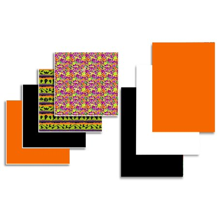 Oracal Vinyl and Siser EasyWeed Heat Transfer Halloween Sample Pack - 7 Sheets