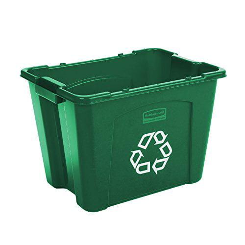 Recycling Box, Rectangular, 14 gal, Green