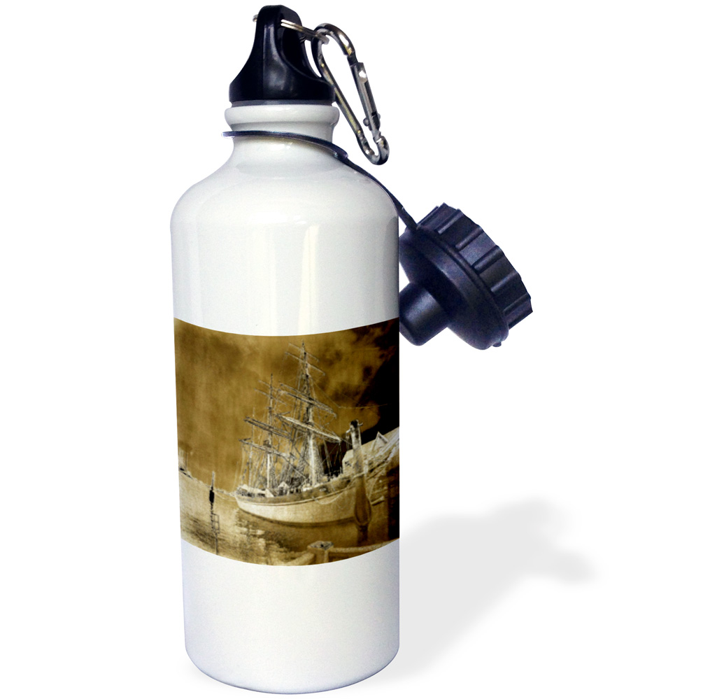 3dRose Galvestons Elissa Tall Ship, Sports Water Bottle, 21oz by 3dRose