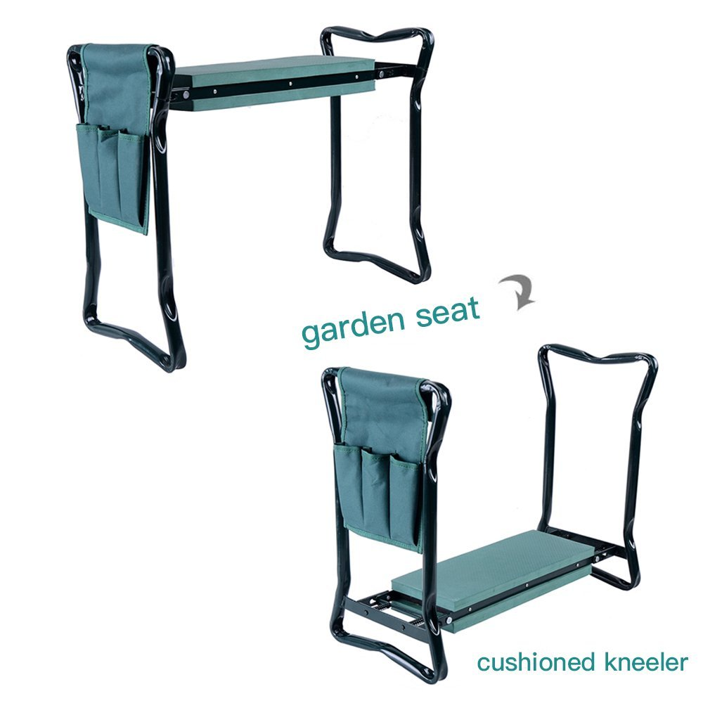 New Design Garden Kneeler And Seat With 2 Bonus Tool Pouches Portable  Folding Stool Chair,