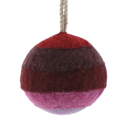 Felt Patchwork Ball Ornament