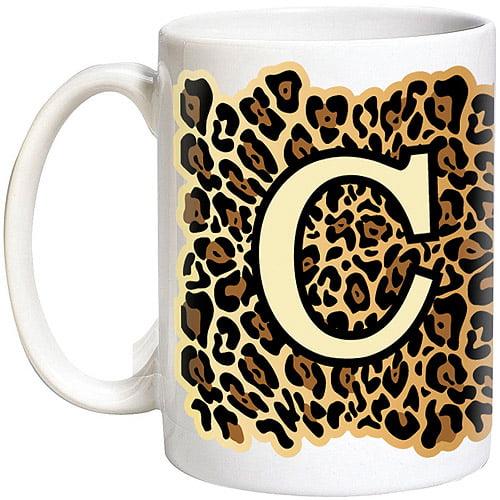 15-Ounce Personalized Leopard Print 15oz Coffee Mug