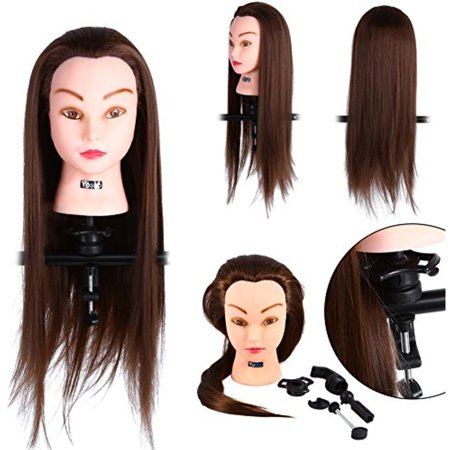 Hair Training Model with Clamp, 24