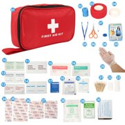 180 Piece First Aid Kit Bag Medical Emergency Kit.Travel Home Car Taxi Workplace Home First Aid Kit