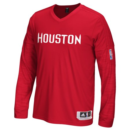 Houston Rockets Adidas 2015 NBA Mens On-Court Authentic L S Shooting Shirt by