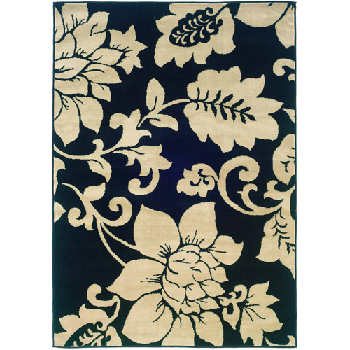 Home Expressions Floral Orchid Area Rug, Ivory