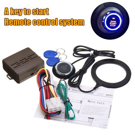 12V Auto SUV Universal Car Alarm System Security Keyless Entry Engine Start Push Button Remote Starter RFID Lock Ignition (Automatic Car Starter For Push Button Start)