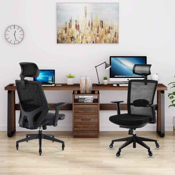 Tribesigns 94 5 Inches Computer Desk, Double Desk Home Office With Drawers