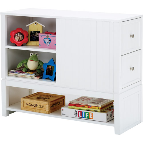 Cody Bed End Bookcase Chest, White