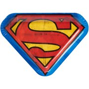 "9.25"" Superman Die-Cut Paper Party Plate, 8ct"