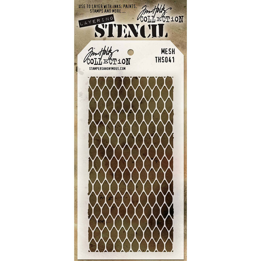 "Tim Holtz Layered Stencil, 4.125"" x 8.5"""