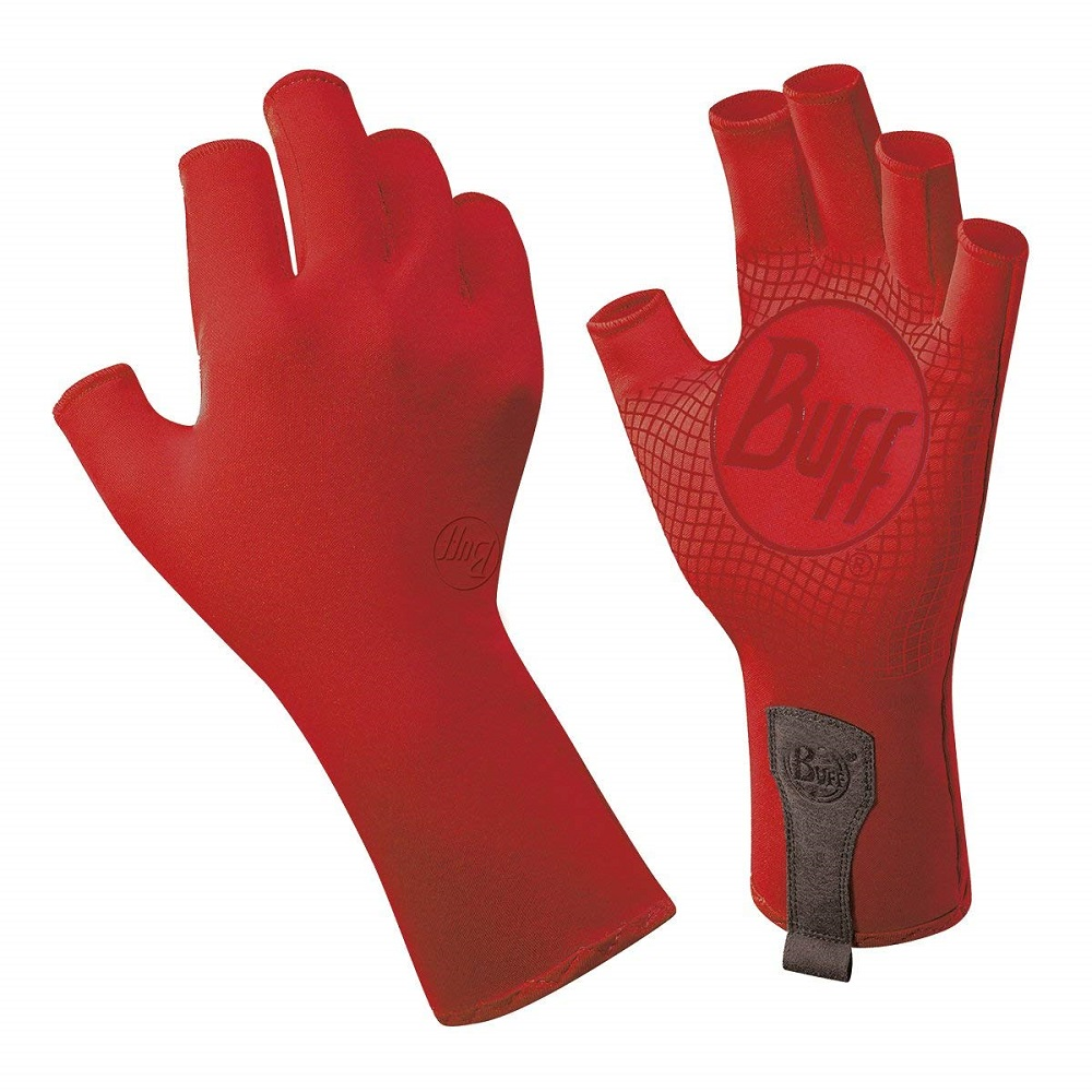 Buff Sport Series Water 2 Gloves Red Edge, Medium/Large